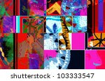 abstract graffiti collage ... | Shutterstock . vector #103333547