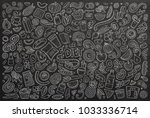 line art vector hand drawn... | Shutterstock .eps vector #1033336714