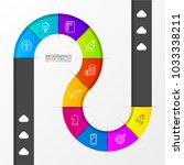abstract colorful business path.... | Shutterstock .eps vector #1033338211