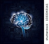 image of brain and integrated... | Shutterstock .eps vector #1033343161