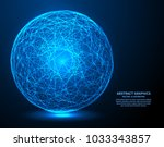 big data  vector illustration.... | Shutterstock .eps vector #1033343857
