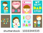 happy father's day greeting...   Shutterstock .eps vector #1033344535