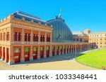 atocha railways  station at...   Shutterstock . vector #1033348441