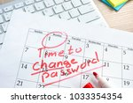 calendar with words time to... | Shutterstock . vector #1033354354