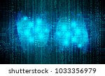 binary circuit board future... | Shutterstock .eps vector #1033356979
