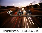 speed camera monitoring busy... | Shutterstock . vector #1033357045