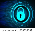 safety concept  closed padlock... | Shutterstock .eps vector #1033359337
