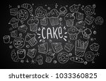 set of drawings on the theme... | Shutterstock .eps vector #1033360825