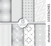 set of vector seamless patterns.... | Shutterstock .eps vector #1033362481