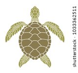 green sea turtle. vector... | Shutterstock .eps vector #1033362511