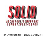 vector of modern bold font and... | Shutterstock .eps vector #1033364824