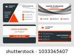 set of 4 business card... | Shutterstock .eps vector #1033365607