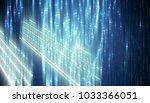 abstract vertical blue... | Shutterstock . vector #1033366051