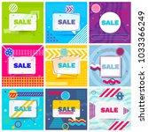 set of trendy abstract... | Shutterstock .eps vector #1033366249