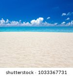 beach and tropical sea | Shutterstock . vector #1033367731