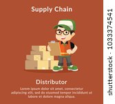 supply chain distributor... | Shutterstock .eps vector #1033374541