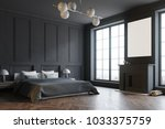 stylish master bedroom corner... | Shutterstock . vector #1033375759