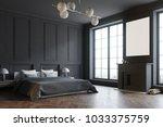 stylish master bedroom corner... | Shutterstock . vector #1033375759