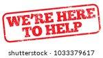 we're here to help. vector...   Shutterstock .eps vector #1033379617