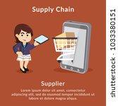 supply chain supplier... | Shutterstock .eps vector #1033380151