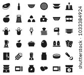 flat vector icon set   plates... | Shutterstock .eps vector #1033384924