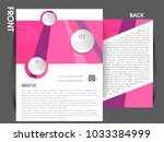 business brochure flyer design... | Shutterstock .eps vector #1033384999