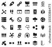flat vector icon set  ... | Shutterstock .eps vector #1033386475