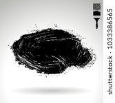 black brush stroke and texture. ... | Shutterstock .eps vector #1033386565