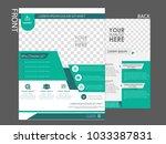 flyers design template vector.... | Shutterstock .eps vector #1033387831