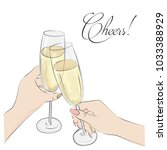 cheers vector illustration.... | Shutterstock .eps vector #1033388929