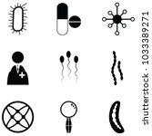 pathogen icon set | Shutterstock .eps vector #1033389271