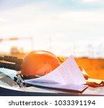 an electrician in the fields...   Shutterstock . vector #1033391194