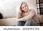 depression. middle aged woman... | Shutterstock . vector #1033391701