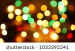 out of focus multicolored... | Shutterstock . vector #1033392241