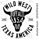 texas buffalo tee print graphic | Shutterstock .eps vector #1033396465