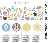spa salon infographics with... | Shutterstock .eps vector #1033396735