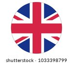 round flag of united kingdom | Shutterstock .eps vector #1033398799