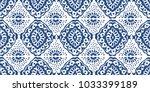 ikat seamless pattern. vector... | Shutterstock .eps vector #1033399189