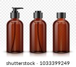 brown cosmetic bottles isolated ... | Shutterstock .eps vector #1033399249
