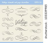 vintage elements and page... | Shutterstock .eps vector #103339985