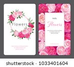 beautiful pink roses flower... | Shutterstock .eps vector #1033401604