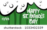 happy st. patrick's day banner. ... | Shutterstock .eps vector #1033402339
