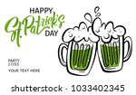 happy st. patrick's day banner. ... | Shutterstock .eps vector #1033402345