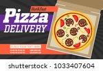 pizza box vector advertisement... | Shutterstock .eps vector #1033407604