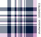 plaid check pattern in navy... | Shutterstock .eps vector #1033407811