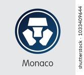 monaco finance. blockchain... | Shutterstock .eps vector #1033409644
