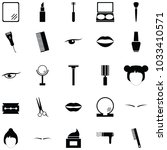 cosmetics icon set | Shutterstock .eps vector #1033410571