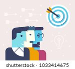 vector linear flat illustration ... | Shutterstock .eps vector #1033414675