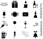 celebration icon set   Shutterstock .eps vector #1033414771