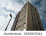 high up modern apartment... | Shutterstock . vector #1033415161